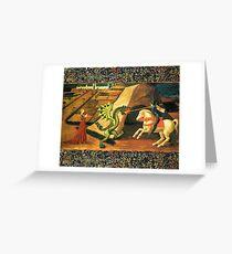 Saint George, Dragon and Princess Greeting Card