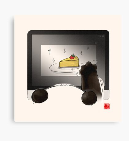 Right Cake, Wrong Time, Wrong Place Canvas Print