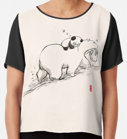 Are we bearly there yet? Chiffon Top