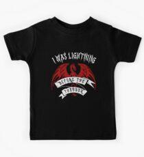 Camiseta para niños Yo era un rayo antes de la camisa del trueno The Dragons Thunder