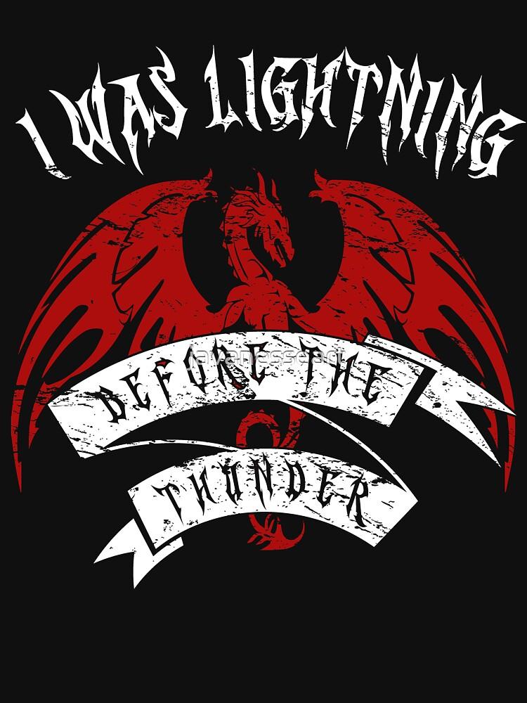 Ich war Blitz vor dem Donner Hemd Der Drache-Donner von javanesseart