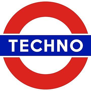 Underground Techno by flipfloptees