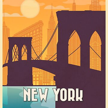 New York vintage poster travel by paulrommer