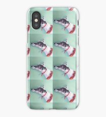 Greyhound in a red collar iPhone Case