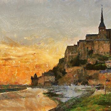 Mont Saint Michel at Dusk, France by buttonpresser