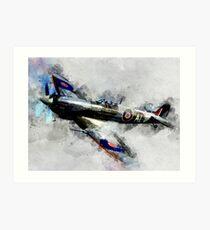 Spitfire - Watercolor Art Print