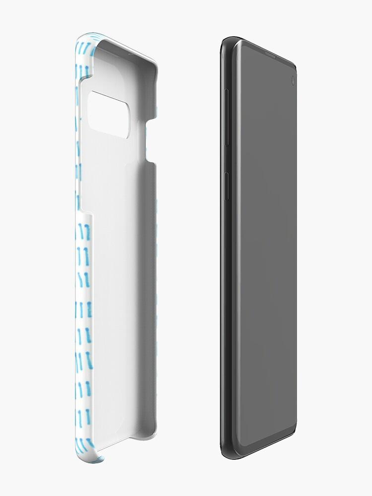 Alternate view of Blue grass - a handmade pattern Case & Skin for Samsung Galaxy
