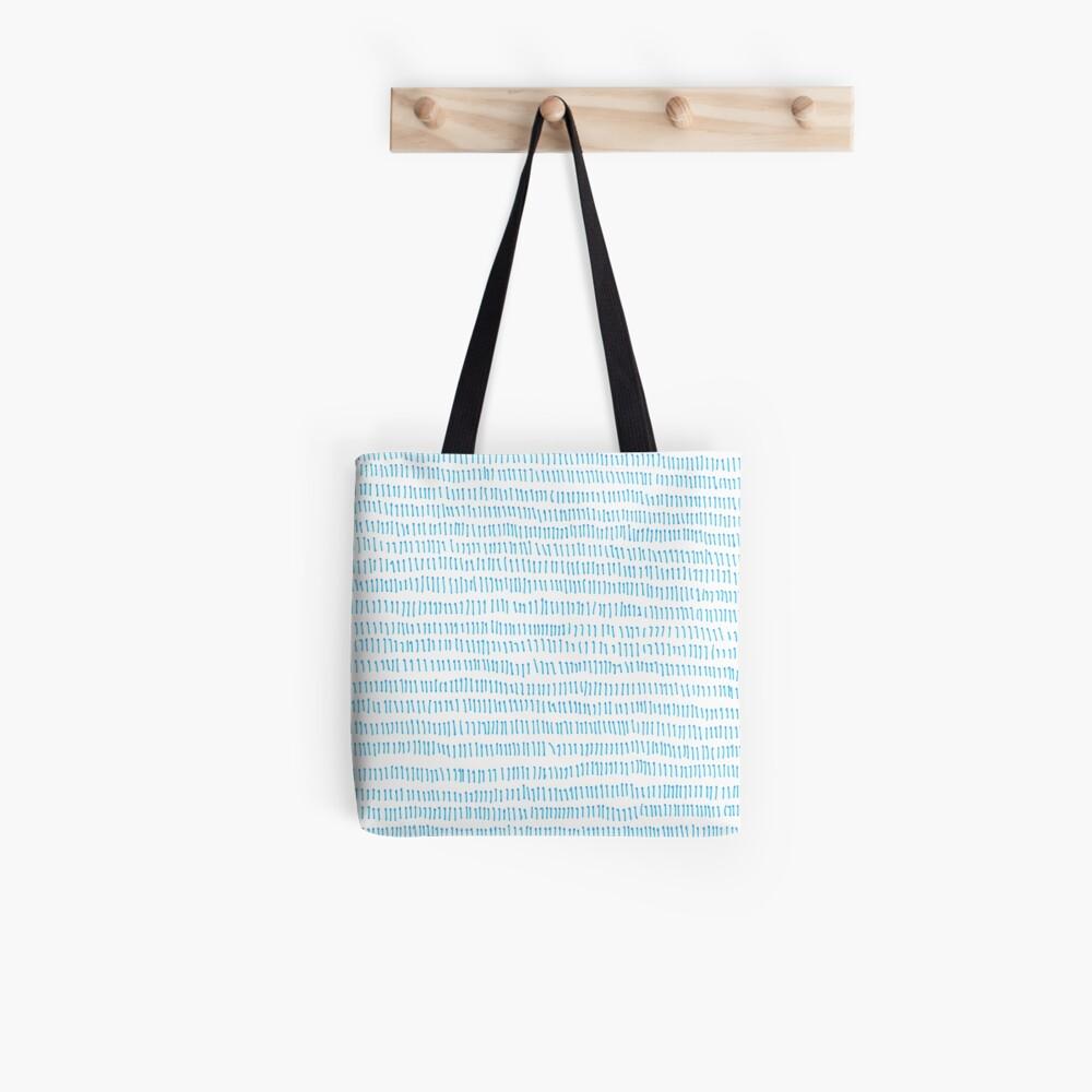 Blue grass - a handmade pattern Tote Bag