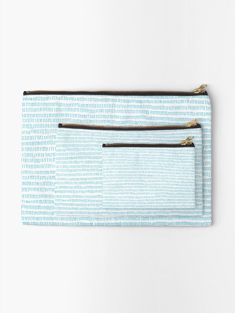 Alternate view of Blue grass - a handmade pattern Zipper Pouch