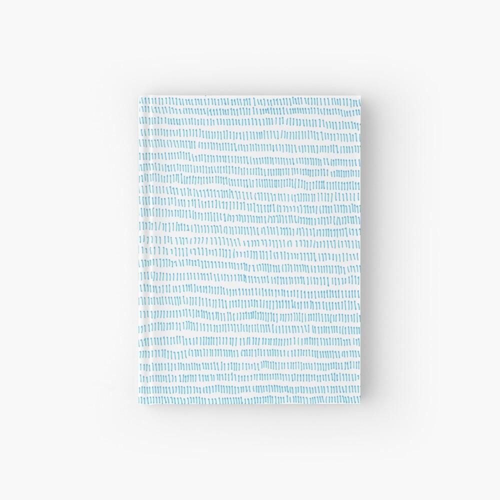 Blue grass - a handmade pattern Hardcover Journal