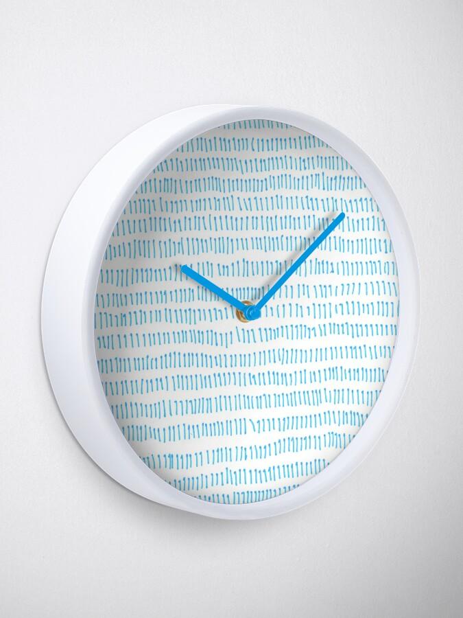 Alternate view of Blue grass - a handmade pattern Clock