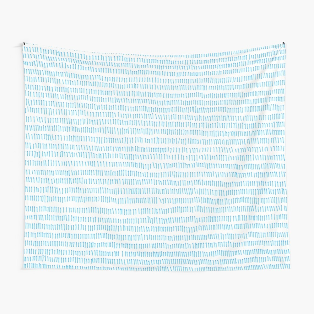 Blue grass - a handmade pattern Wall Tapestry