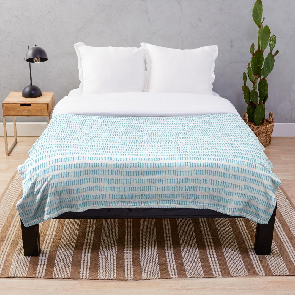 Blue grass - a handmade pattern Throw Blanket