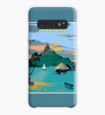 TAHITI : Vintage Travel to Bora Bora Advertising Print Case/Skin for Samsung Galaxy