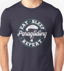 4b99720c Eat Sleep Paragliding Repeat T-Shirt - Cool Funny Nerdy Comic Graphic Paragliding  Paraglider Paraglider
