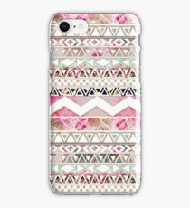 Girly Pink White Floral Abstract Aztec Pattern iPhone Case/Skin