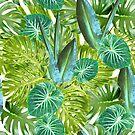 Big Tropical Leaves  by ElysiumDesign