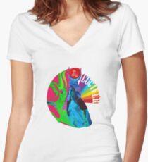 Lucifer Rising Women's Fitted V-Neck T-Shirt