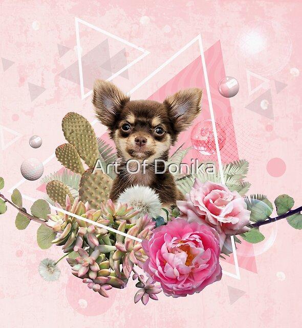 Eclectic Geometrical Chihuahua by Donika Nikova