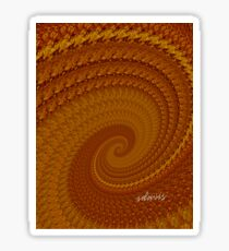 sd Abstract Fractal Browns 2C Sticker