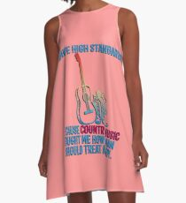 Cowgirl Country Music Horse  Cowboy Fan  A-Line Dress