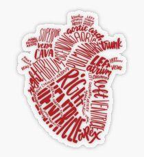 Handgeschriebenes Herz Transparenter Sticker