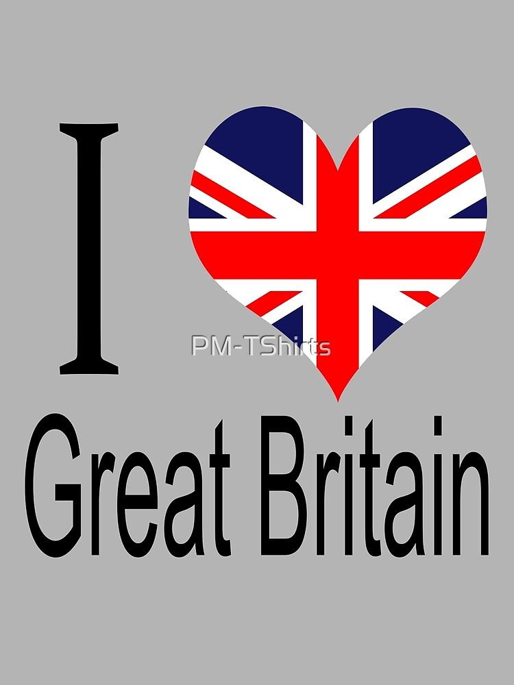 I Love United Kingdom by PM-TShirts