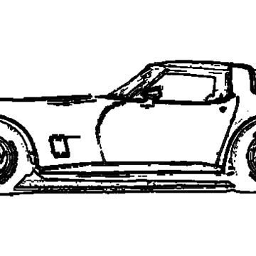 C3 Corvette string silhouette by pupudoodle