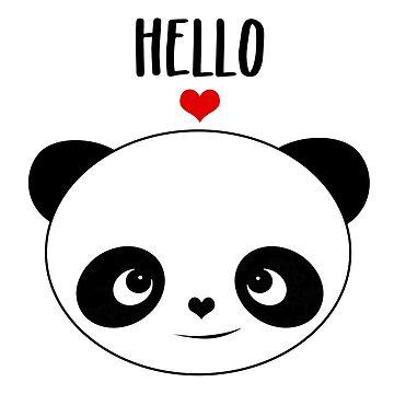 Hello Panda by sarapaschal