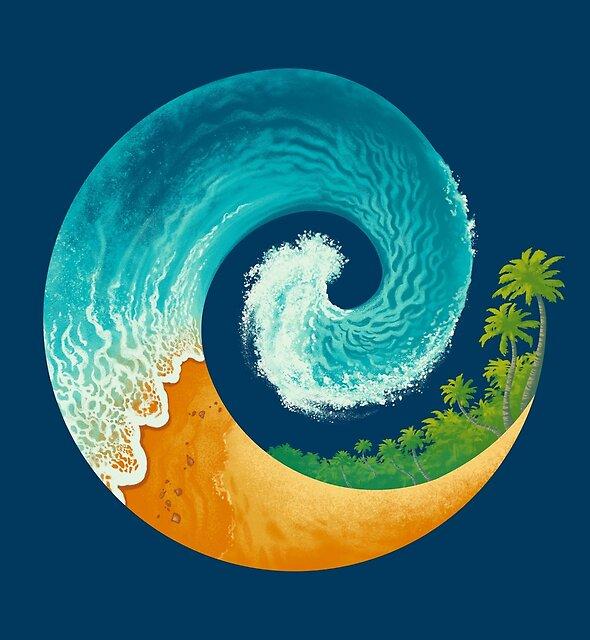 Spiral Beach by Waynem79
