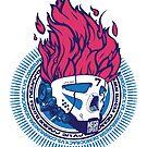 Hip hop graffiti skull redux by kobalt7