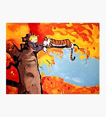 Calvin and Hobbes Autumn Photographic Print