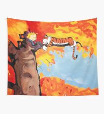 Calvin and Hobbes Autumn Wall Tapestry