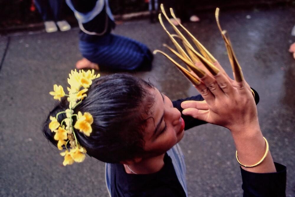 Fingernail dancer, Chiang Mai by John Spies