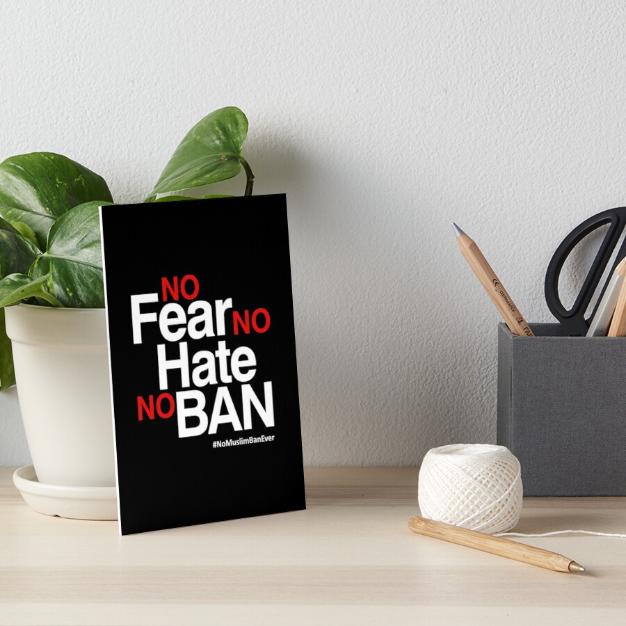 Kein Muslim Verbot überhaupt T-Shirt, keine Furcht kein Hass kein Verbot Galeriedruck