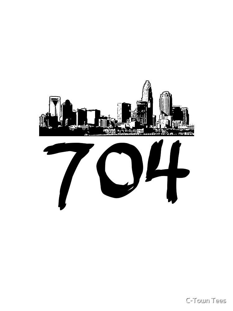 Charlotte - 704 (Black Logo) by Klay70