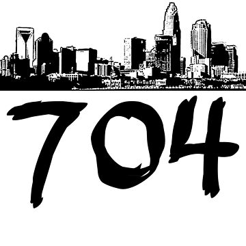 Charlotte - 704 (Black Logo) by Klay70
