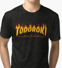 Todoroki Shoto Thrasher (Fire) Tri-blend T-Shirt