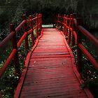 Red Bridge at Magnolia Plantation by StampCity