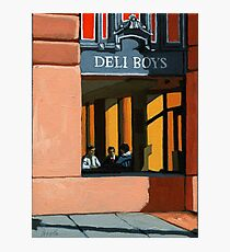 Deli Boys - people oil painting Photographic Print