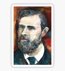 BRAM STOKER - watercolor portrait.2 Sticker
