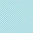 Cute Blue Hearts Pattern by ValeriesGallery
