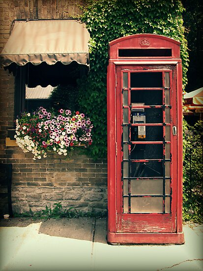 Red Phone Booth by Caroline Fournier