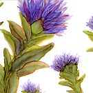 Thistles II by Helen Dannelly