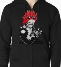 red riot Zipped Hoodie