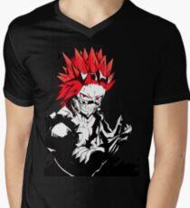 Camiseta para hombre de cuello en v alboroto rojo