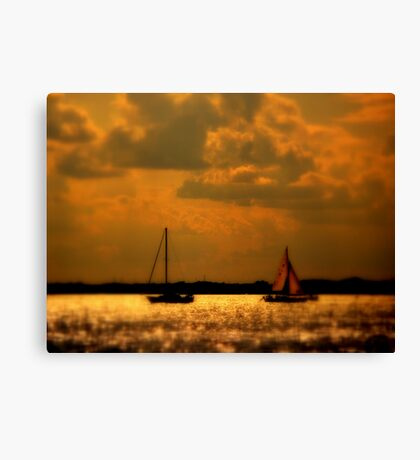 WE SAILED IN  A   GOLDEN    ......  Canvas Print