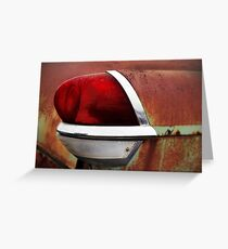 Nothing But the Taillight Greeting Card