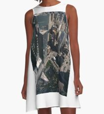 Manhattan, New York City, downtown, #Manhattan, #NewYorkCity, #downtown,  A-Line Dress