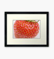 Strawberry macro Framed Print